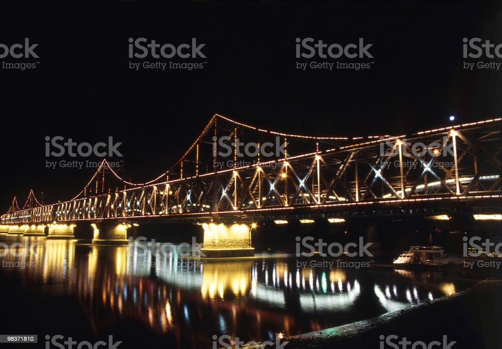 bridge di notte foto stock royalty-free