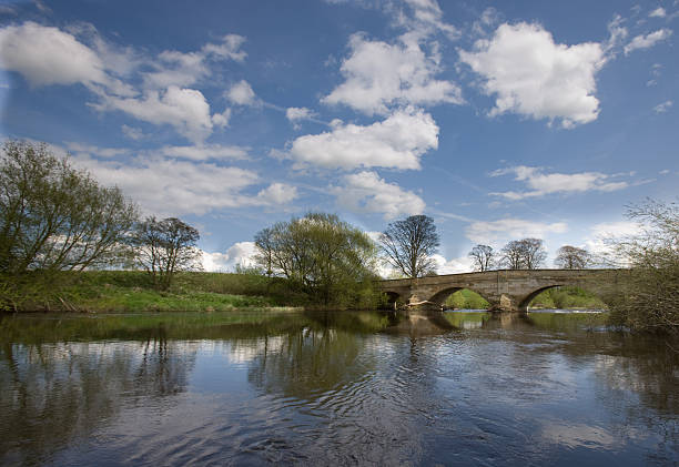 Bridge at Ripon in Summer stock photo