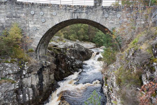 Bridge at Silverbridge over Black Water river stock photo
