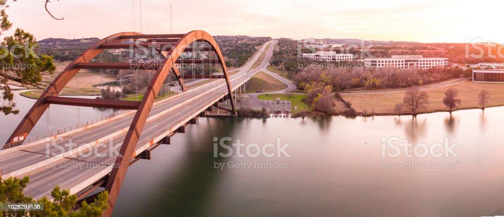 360 Bridge Austin Texas stock photo