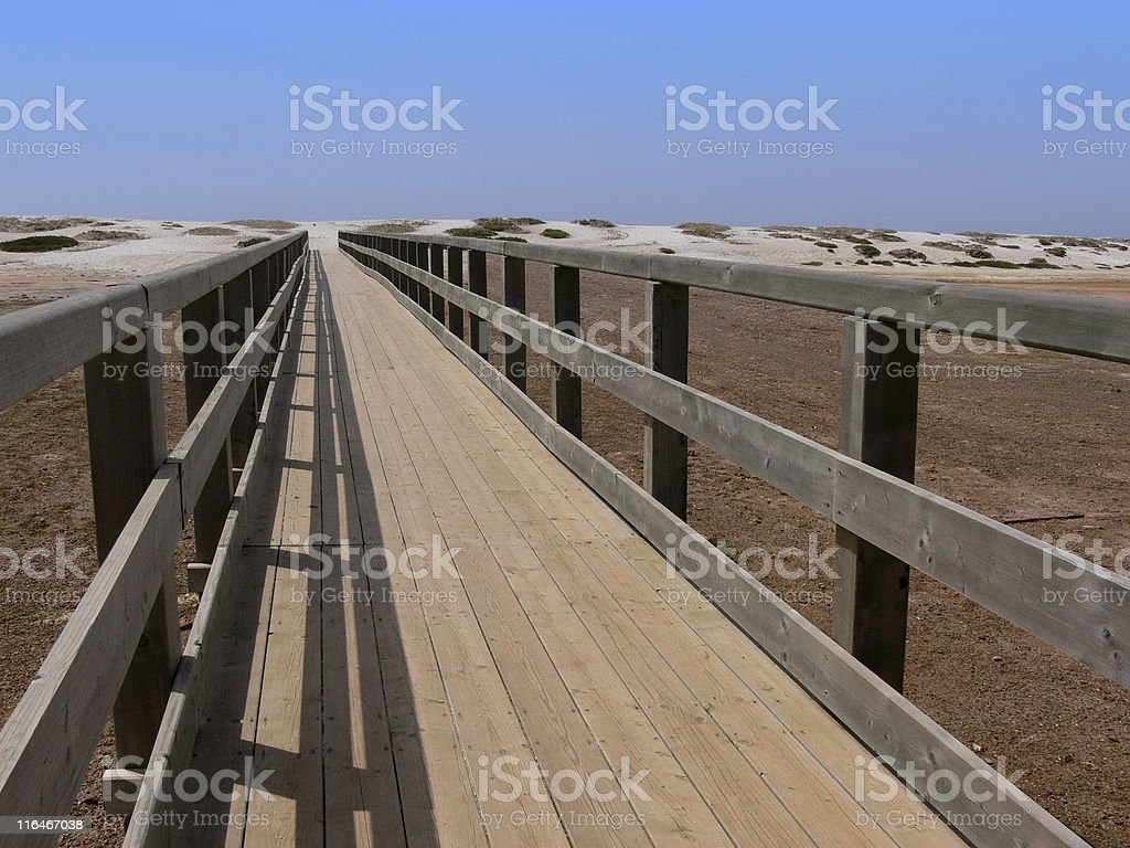 Bridge, beach royalty-free stock photo
