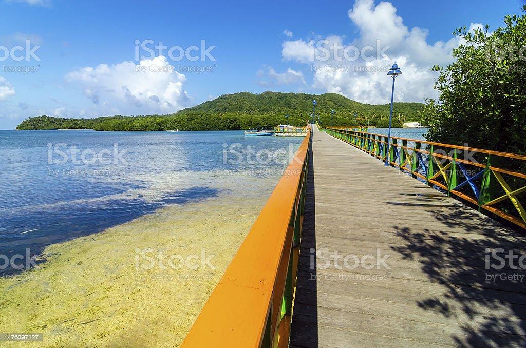 Bridge Between Islands stock photo