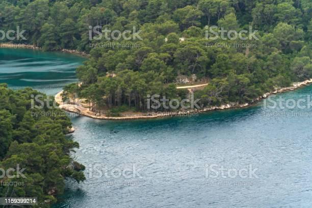 Photo of Bridge between The big and small lake on island Mljet, Croatia