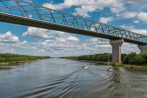 High bridge in Brunsbüttel in Northern Germany