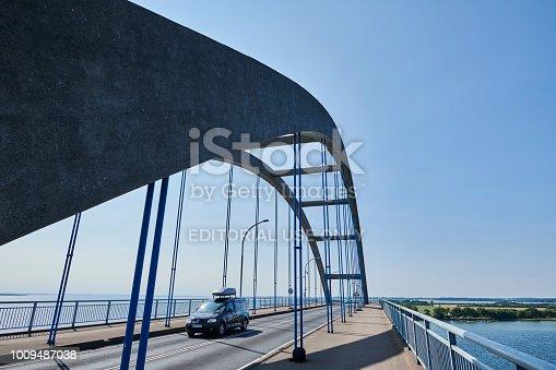 The bridge leading to the Danish city Rudkøbing on the island Langeland