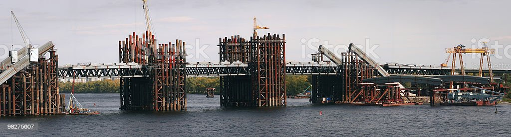 Bridge building panorama royalty-free stock photo