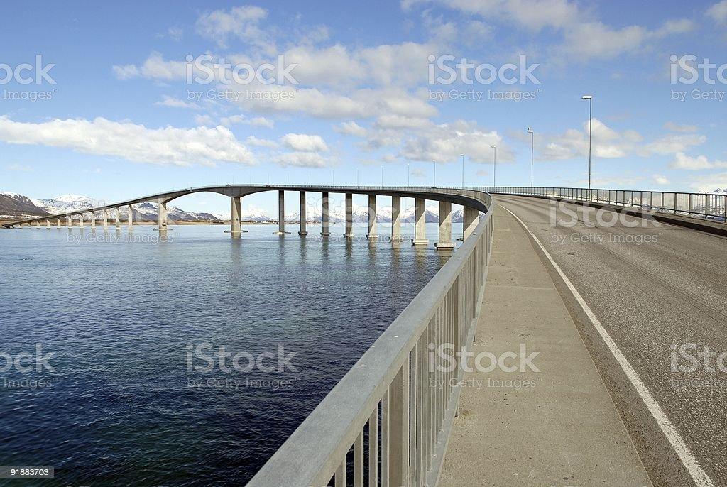 Bridge by the Sea royalty-free stock photo