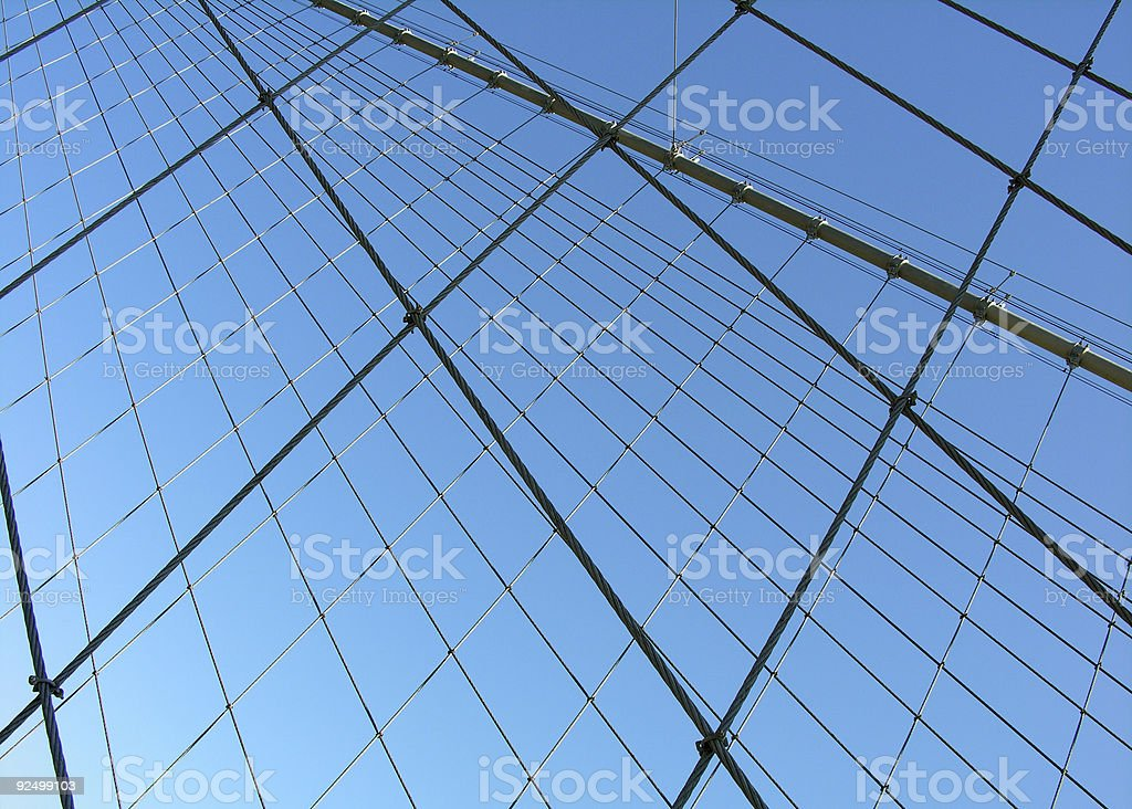 Bridge Cables royalty-free stock photo