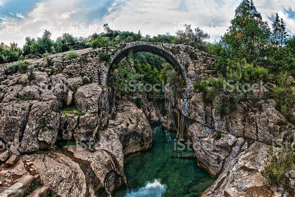 Bridge canyon stock photo