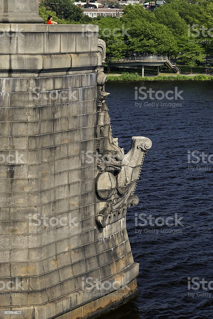 bridge carving royalty-free stock photo