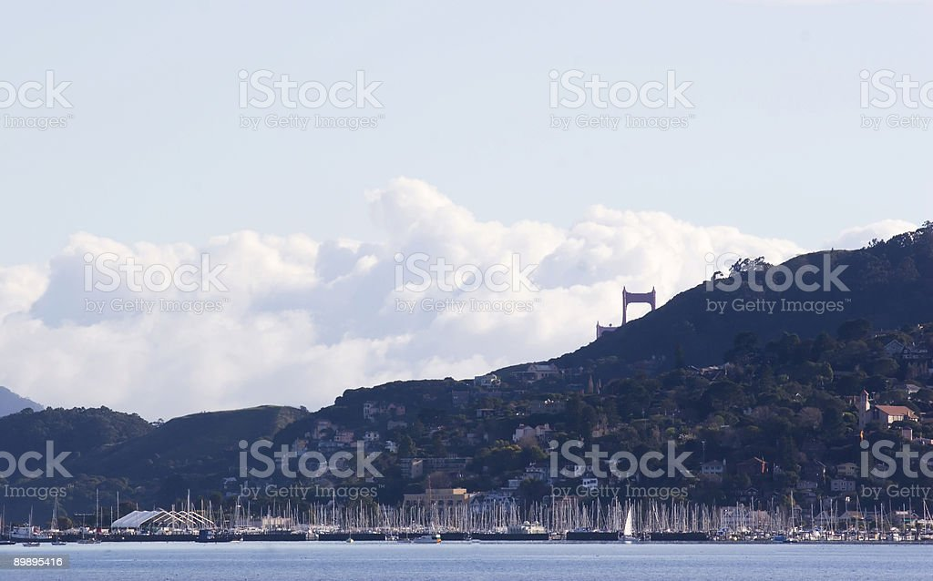 Bridge Cloud royalty-free stock photo