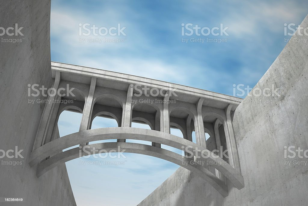 Bridge connection stock photo
