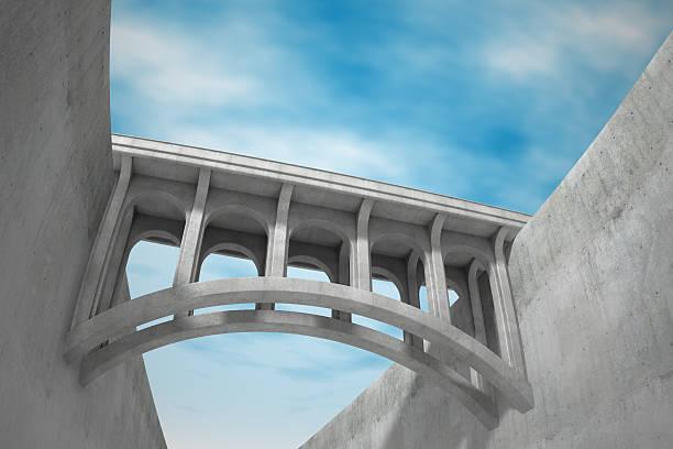 Bridge connection stock photo