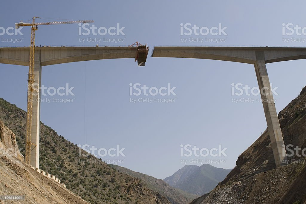 Bridge construction stock photo