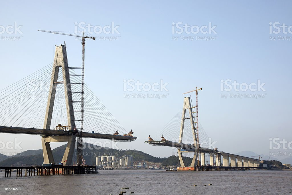 Bridge Construction royalty-free stock photo