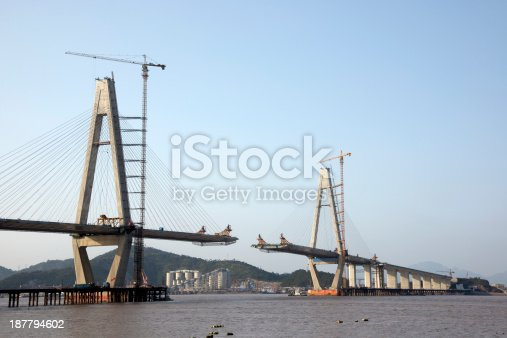 Sea bridge under construction