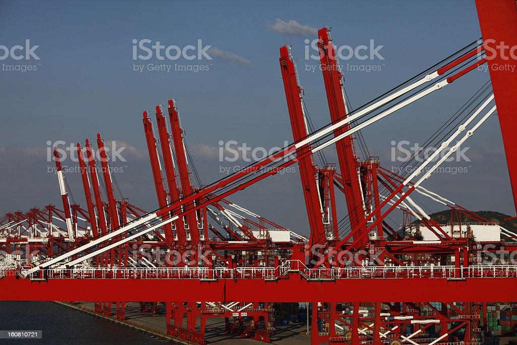 Bridge crane royalty-free stock photo