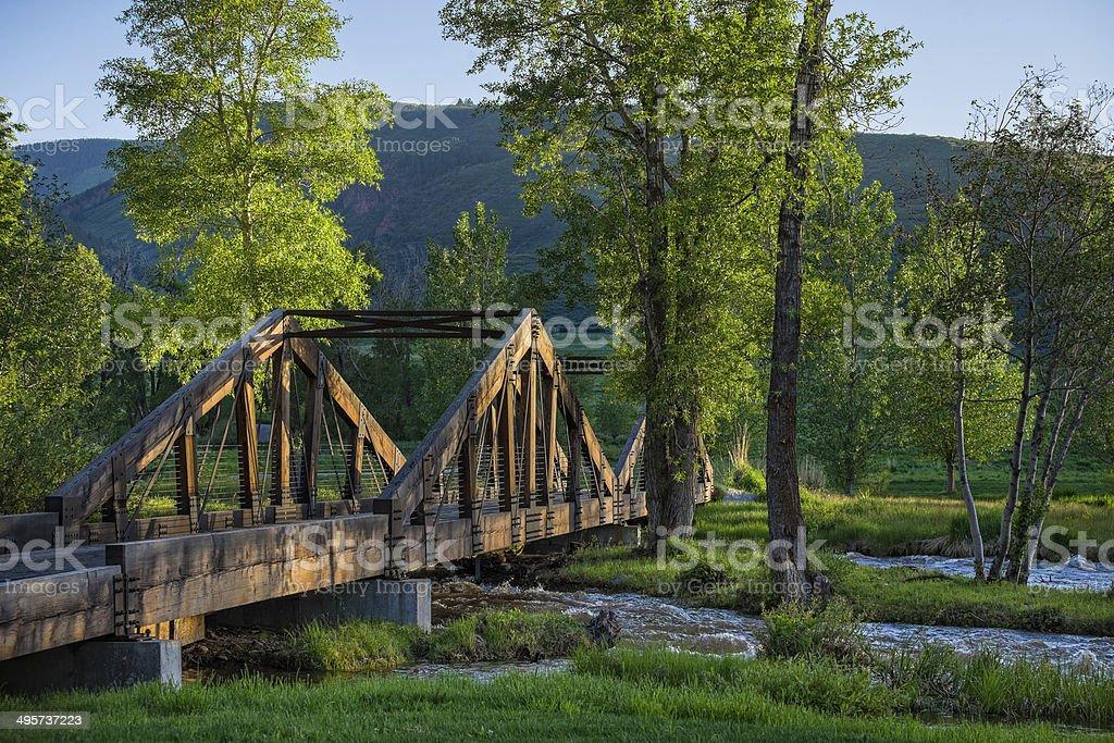 Bridge Crossing Over Creek royalty-free stock photo