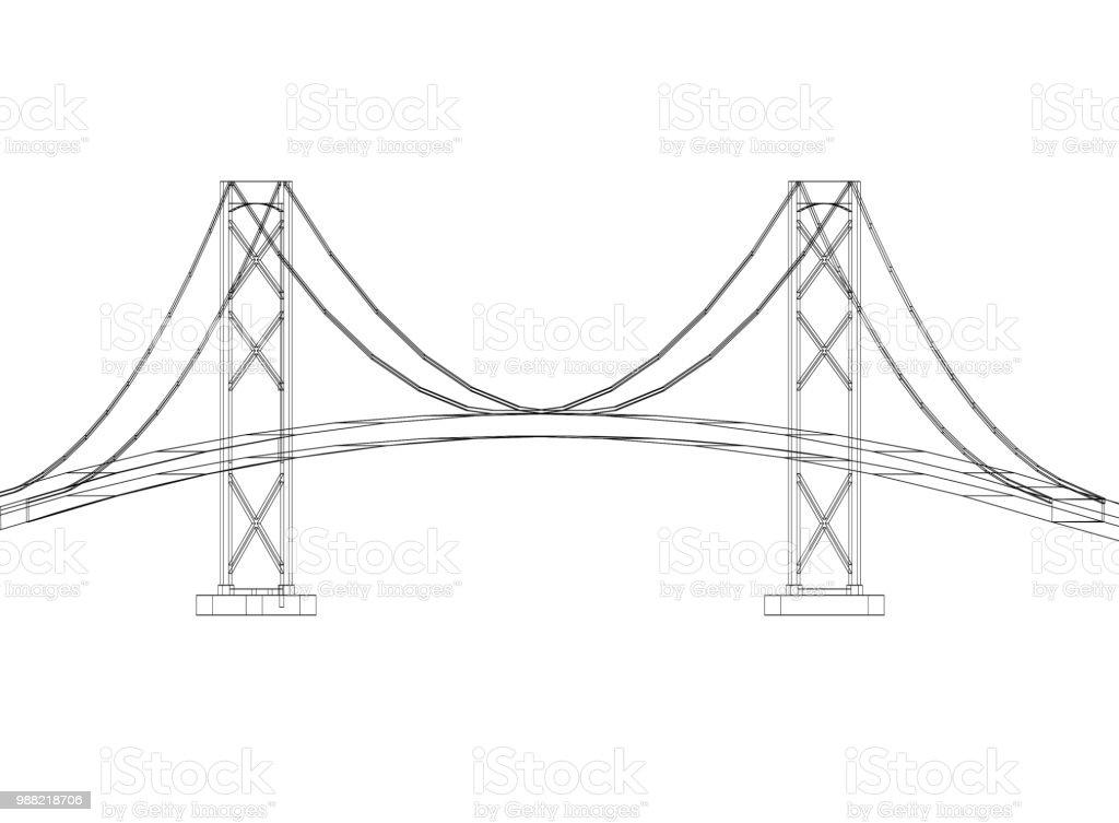 Brückendesign - Architekt-Entwurf - isoliert – Foto