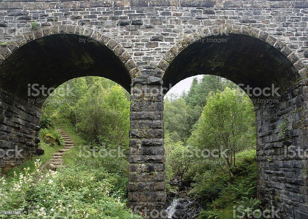 bridge detail with pylons royalty-free stock photo