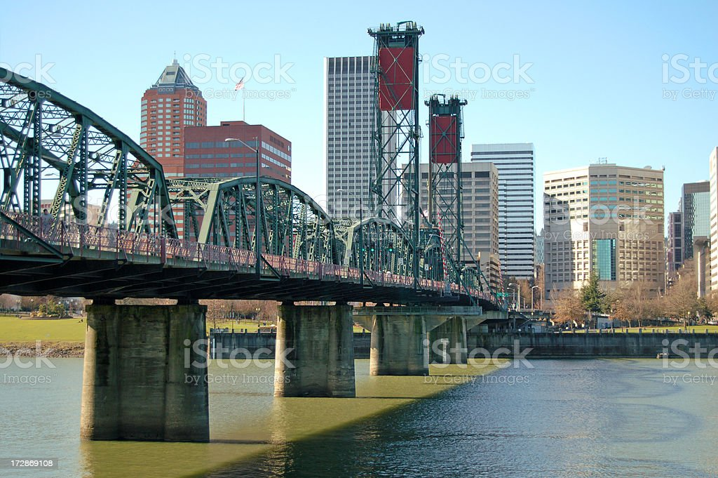 Bridge Downtown royalty-free stock photo