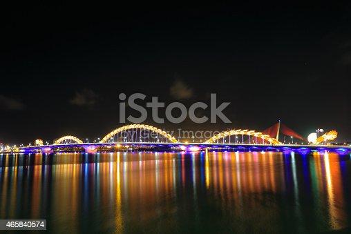156725382 istock photo Bridge Dragon on river Han-Da Nang 465840574