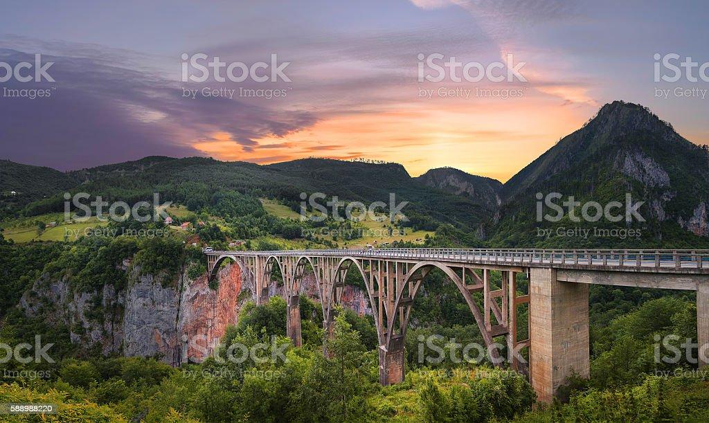 Bridge Dzhurdzhevicha. Montenegro foto de stock libre de derechos