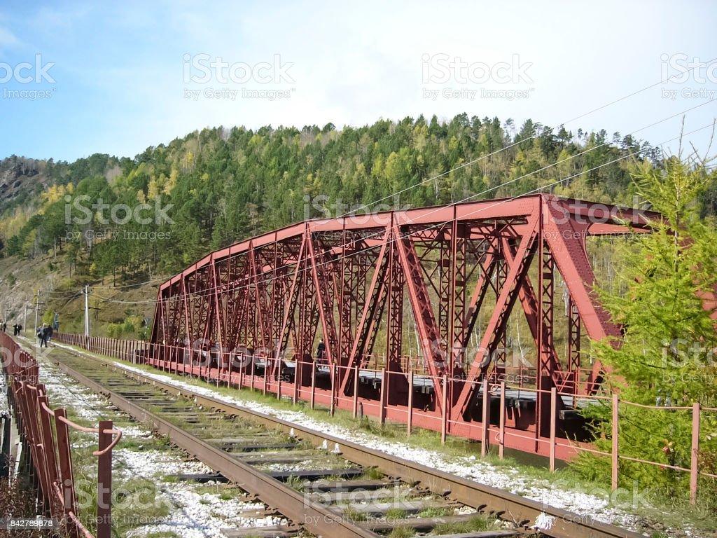 bridge for the train. stock photo