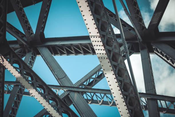primo piano del telaio del ponte - intelaiatura foto e immagini stock