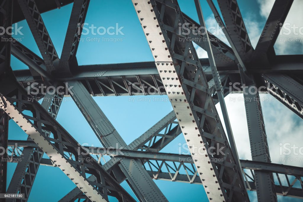 Bridge frame closeup stock photo