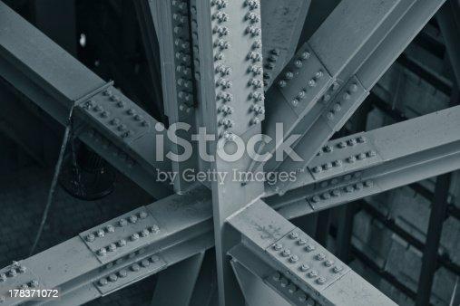 Bridge frame closeup. Horizontal toned image