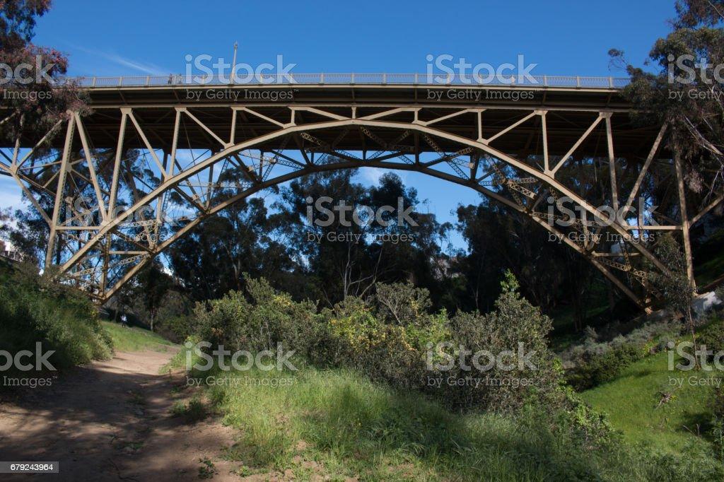 Pont d'une randonnée à San Diego photo libre de droits