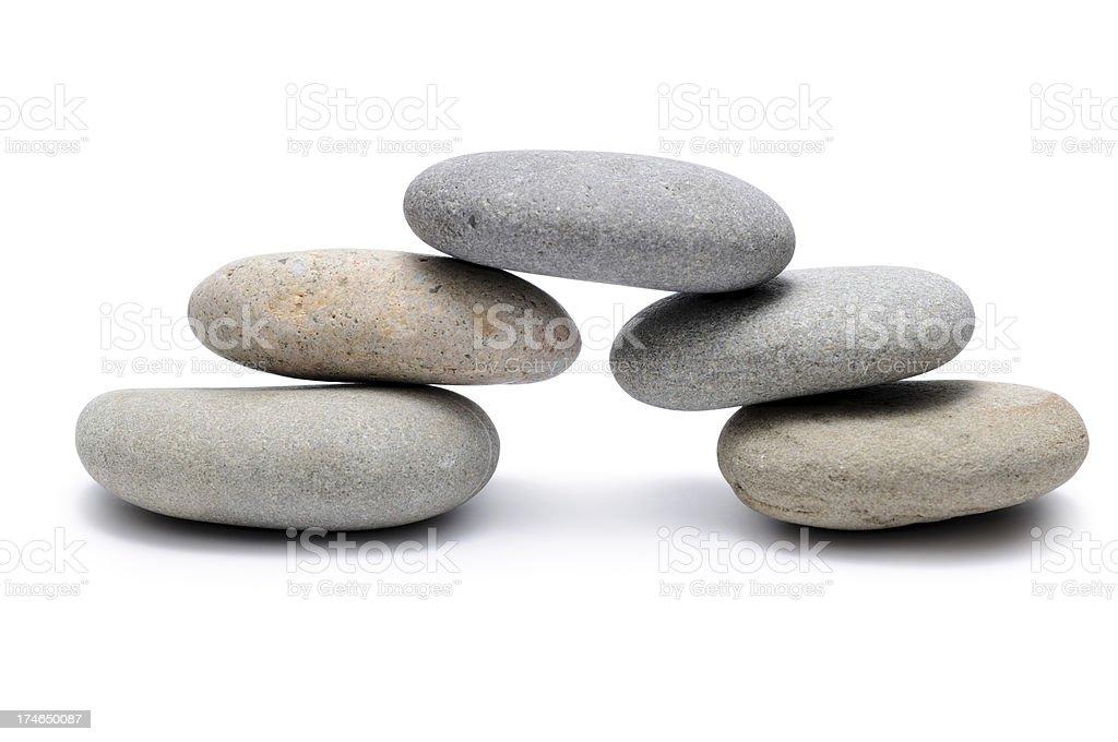 Bridge from Balancing of pebbles royalty-free stock photo