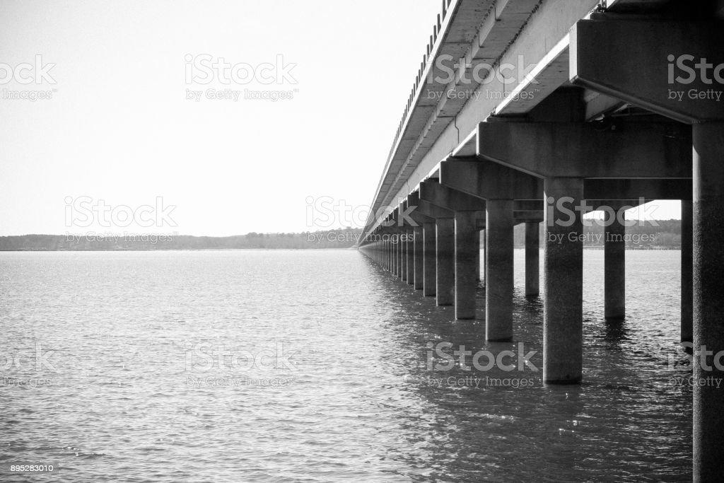 bridge from louisiana to texas stock photo