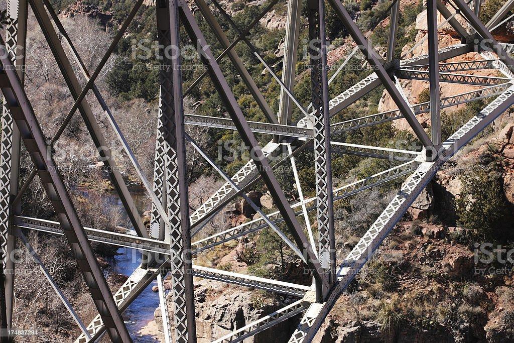 Bridge Girder Steel Canyon Structure royalty-free stock photo