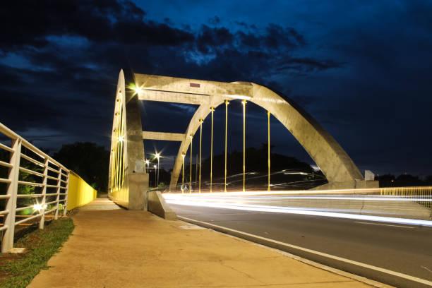Bridge illuminated by dusk light - São José do Rio Preto - São Paulo - Brazil