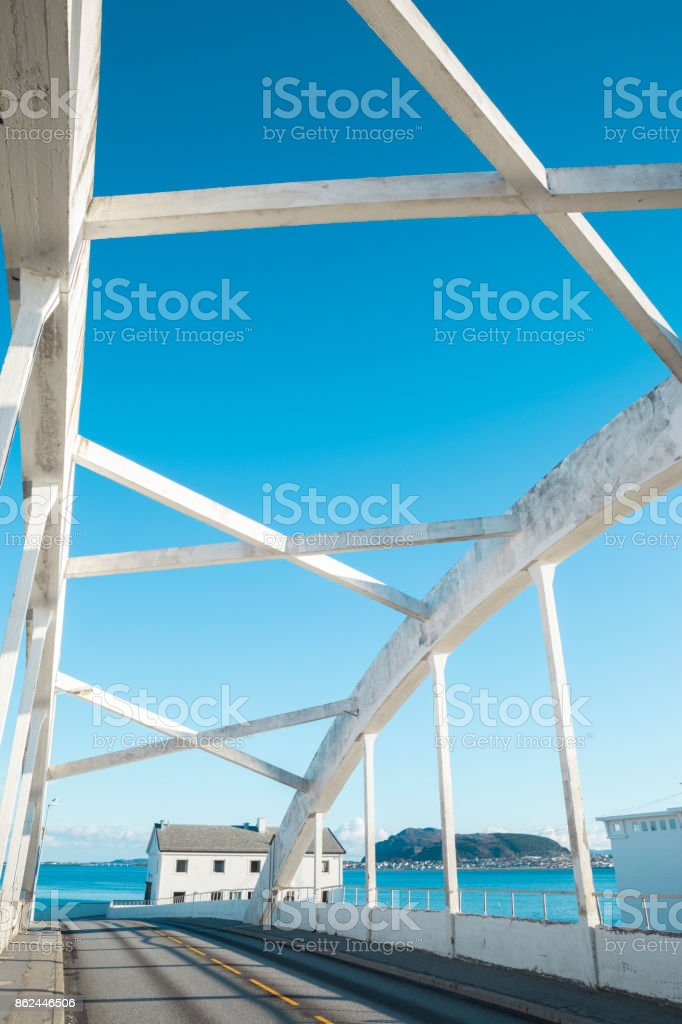 Bridge in Alesund stock photo
