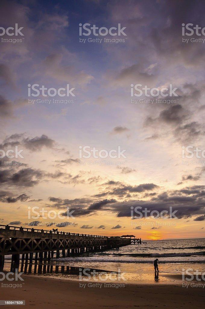 bridge in amazing sunrise royalty-free stock photo