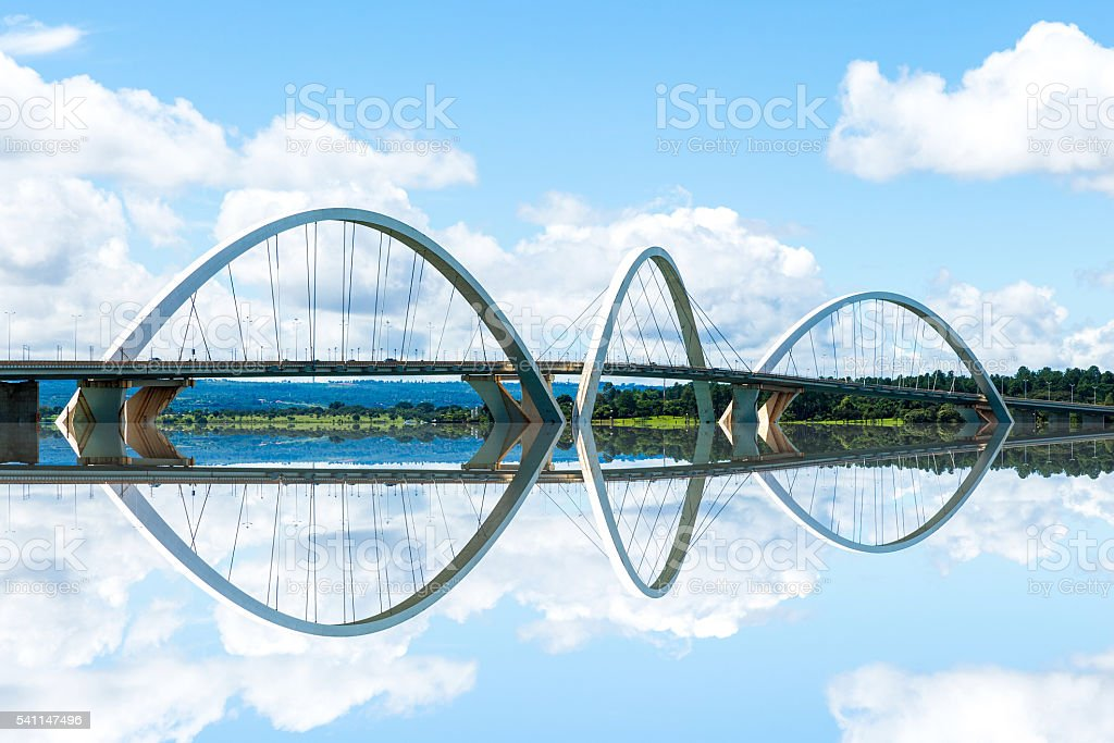 JK Bridge in Brasilia, Brazil stock photo
