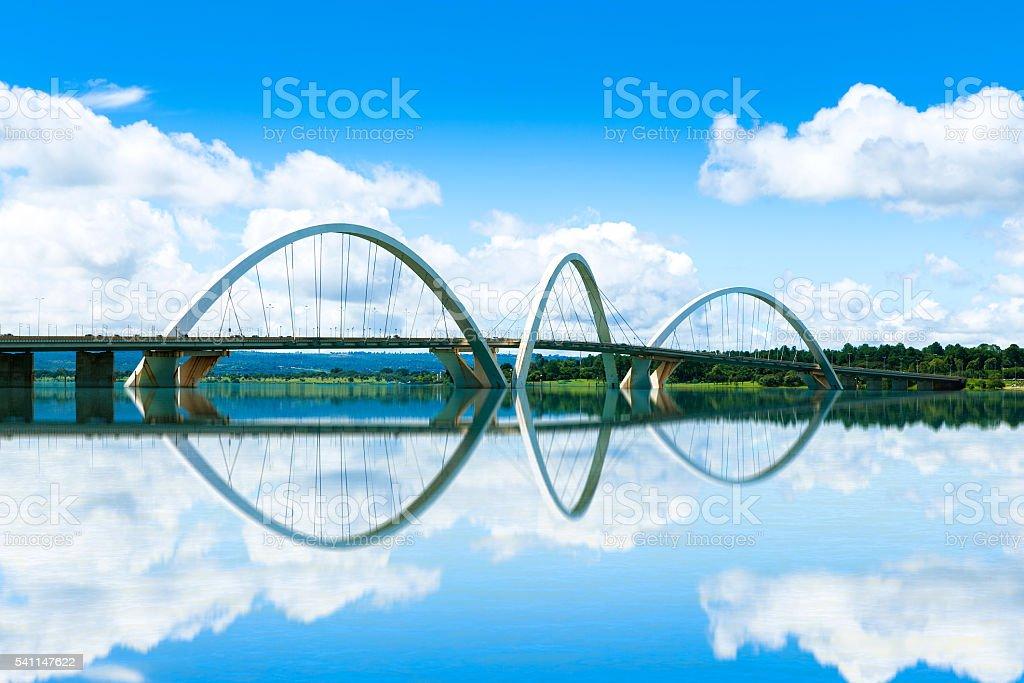 JK Bridge in Brasilia, Brazil stock photo