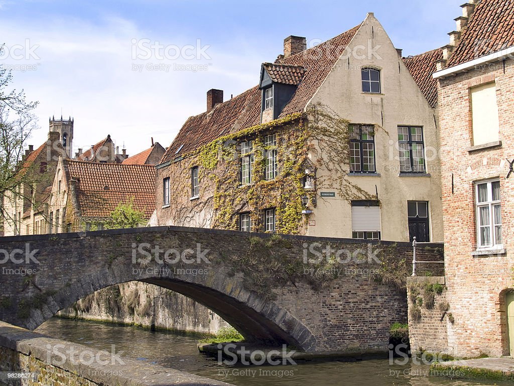 Bridge in Bruges royalty-free stock photo