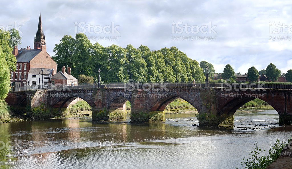 Bridge in Chester, England stock photo