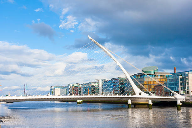 Bridge in Dublin stock photo