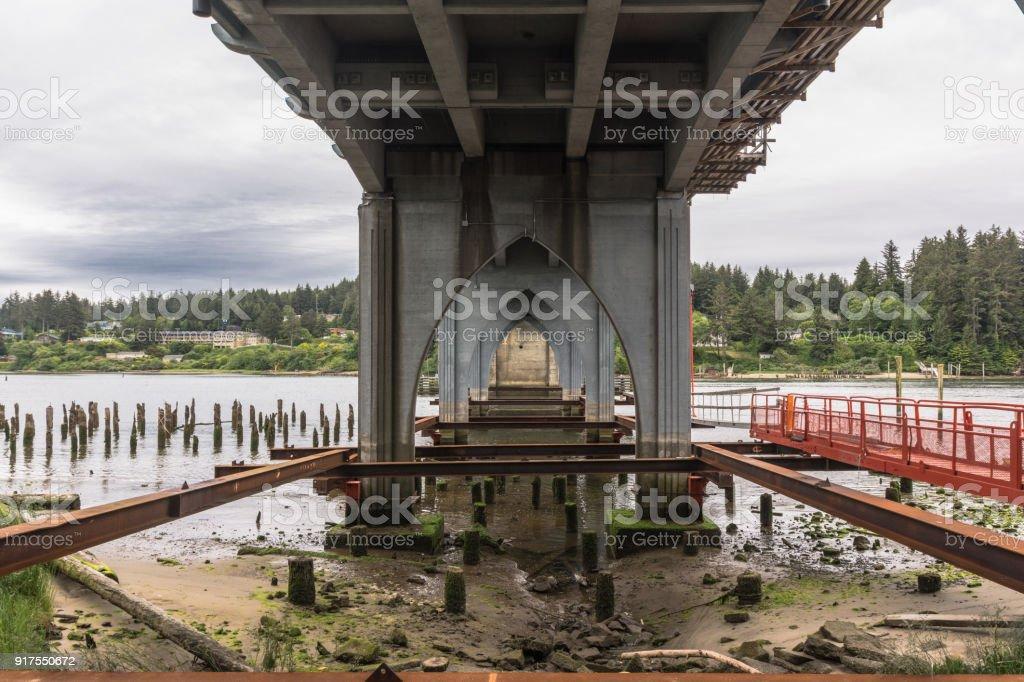 Bridge in Florence, Oregon stock photo