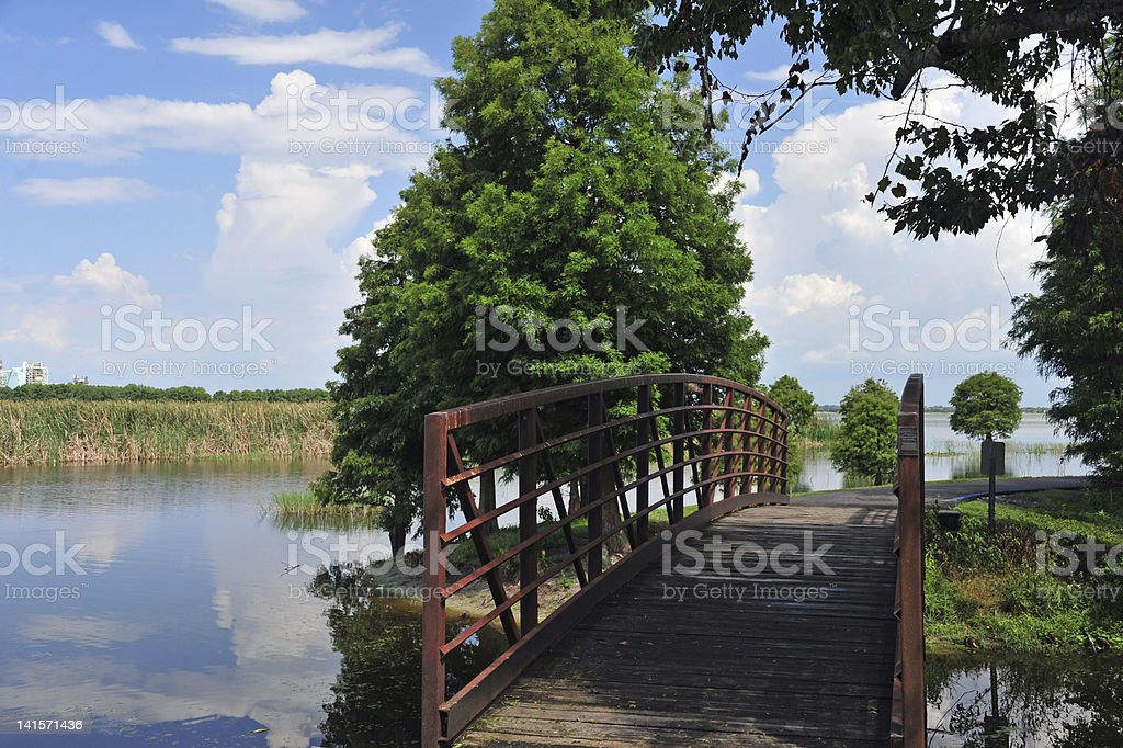 Bridge in Florida stock photo