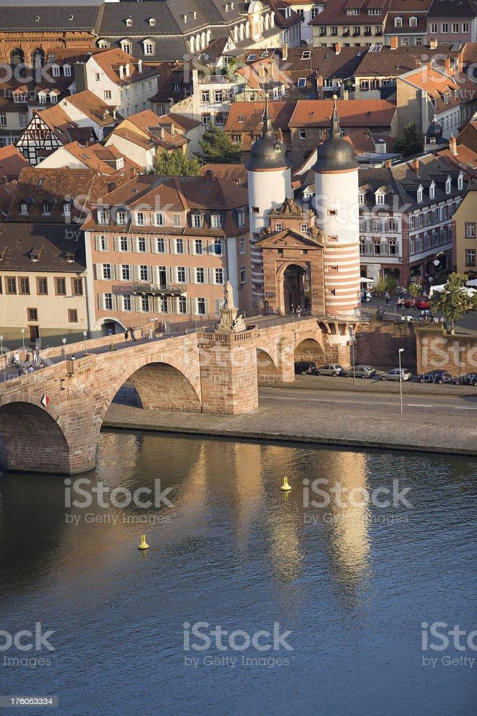 Bridge in Heidelberg Germany royalty-free stock photo
