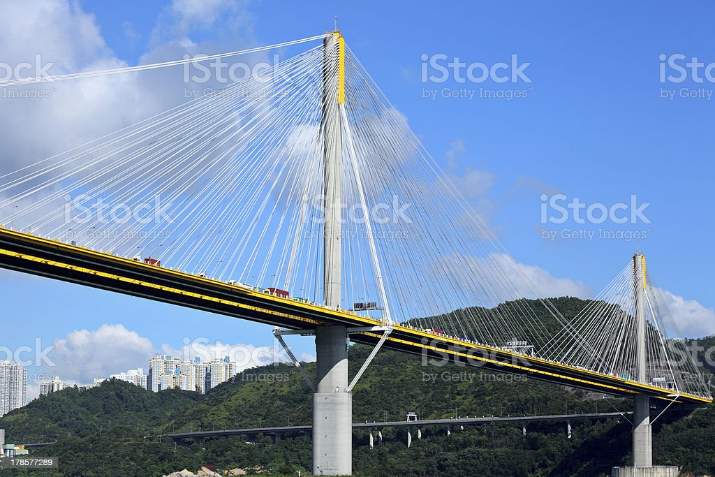 Bridge in Hong Kong royalty-free stock photo