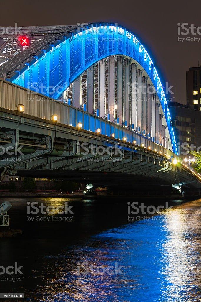 日本の橋、夜景