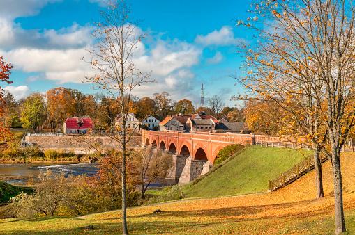 Bridge in Kuldiga, Latvia