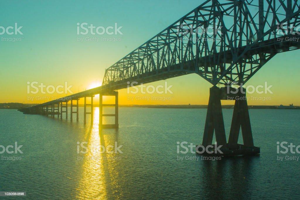Bridge in Maryland USA stock photo